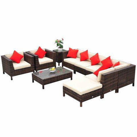 Greenwich 9 Piece Sectional Seating Group with Cushions