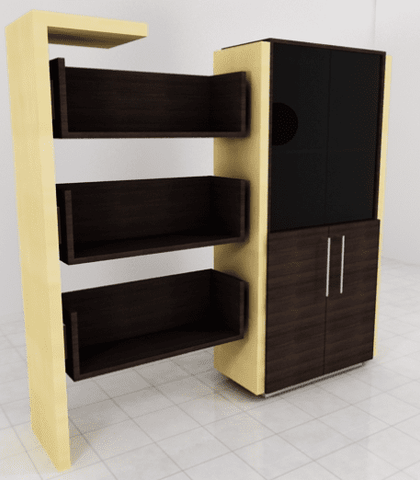 Hanger Cabinate Bookshelf