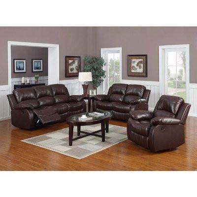 HOG Harvey 6-Seater Recliner Sofa - Brown
