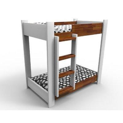 Juniper Series - Bunk Bed - Teak and White (without mattress)