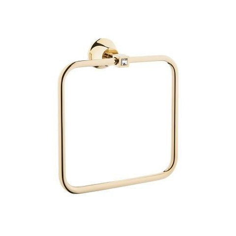 Juno Crystals Towel Ring-gold