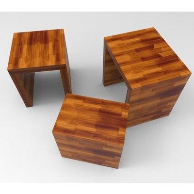 Kayla Series: Nest Stool - Teak