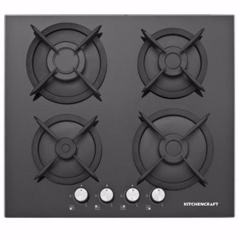 KITCHENCRAFT 60cm Built in Cooker Hob-Glass-G601-Black Magic