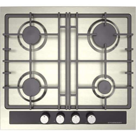 KITCHENCRAFT Built-in Cooker Hob 60cm-Stainless Steel-S 602