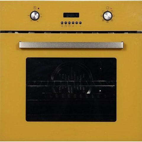 KITCHENCRAFT Built-in Electric Oven - Yellow - Full Glass Face