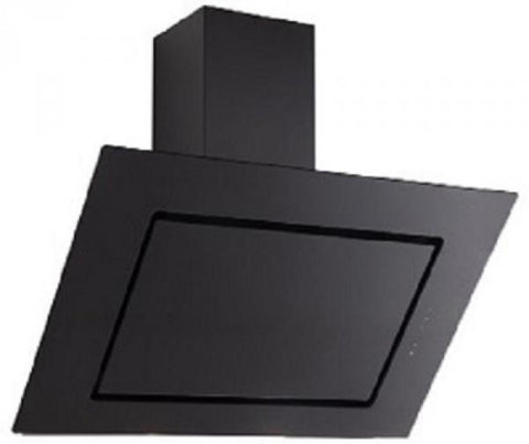 KITCHENCRAFT Cooker Hood Extractor - 60cm - Black Tempered Glass
