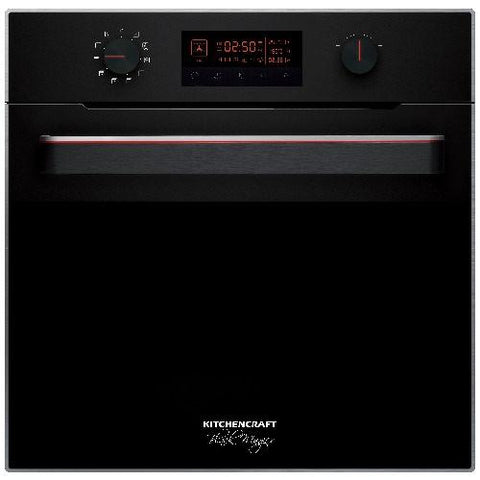 KITCHENCRAFT Limited Edition Built In Oven - illuminated Knobs & handle - Smart Series - BlackMagicX