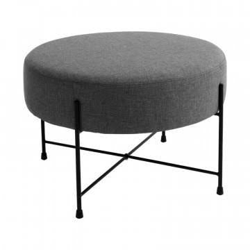 Large Round Pouffe with Hairpin Base