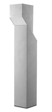 LEDS Quadra Bollard Lamp 55-9374-34-T2 in Alluminium Grey Finish