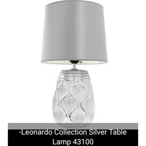 Leonardo Silver Base Table Lamp