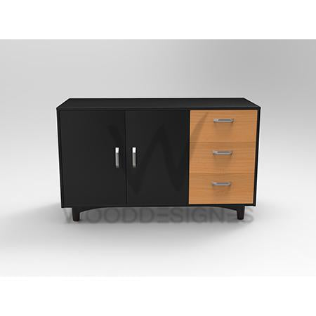 Liam series Sideboard (Black and Golden-brown)