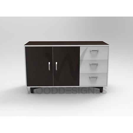 Liam series Sideboard (Dark-brown and White)
