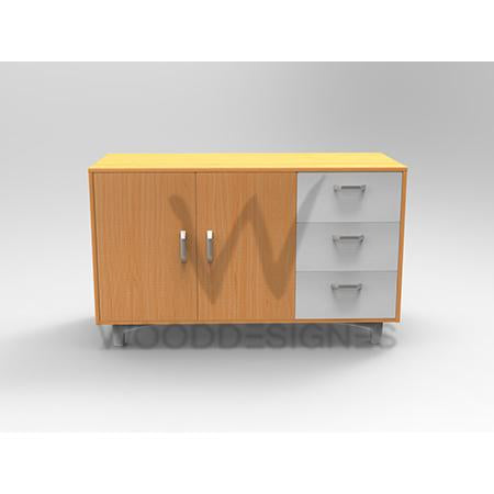 Liam series Sideboard (Golden-brown and White)