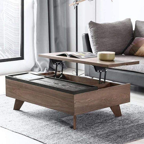 Lift top coffee table With Wood Legs