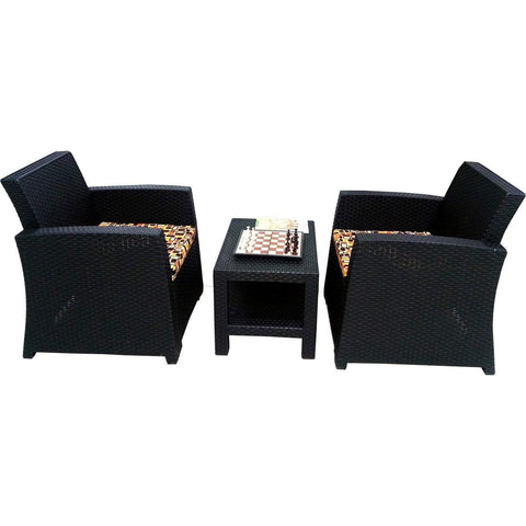LUGANO 2 Single Lounge Chairs + Cushions + Table