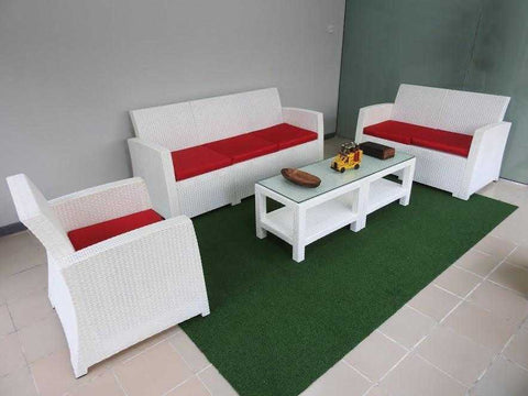 Lugano 6-Seater Lounge Set-White