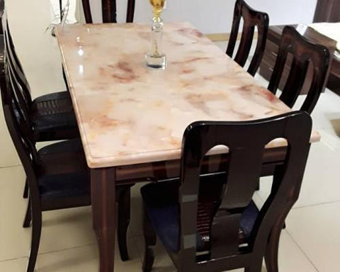 Marble Dining Table & 6 Chairs - Model BF148-1+BP649