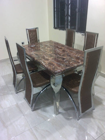 Marble Dining Table + 6chairs