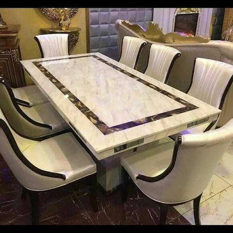 Marble Dinning Table With 8 Chairs