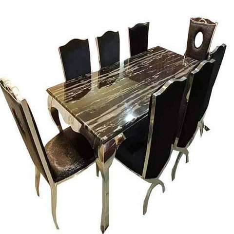 Marble Top 8 Seater Dining Set