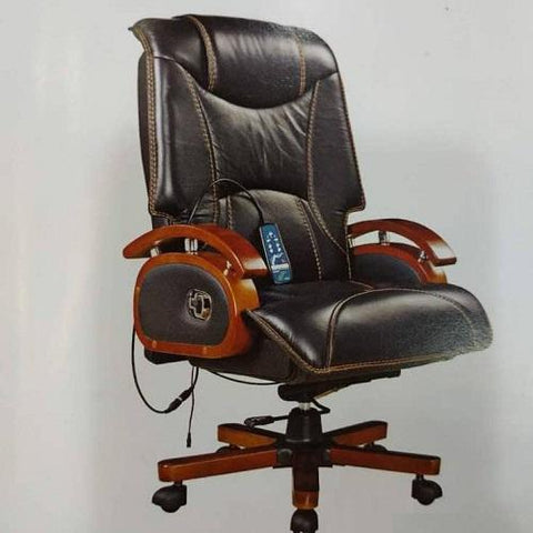 Massager and Recliner Leather Chair