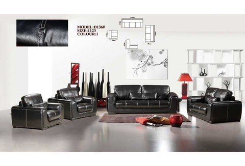 Mencini Leather Sofa Set-D136