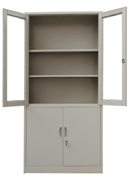 Metal Cabinet with Glass  & Metal Door