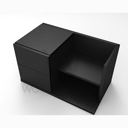 Mianne bed side table -Black