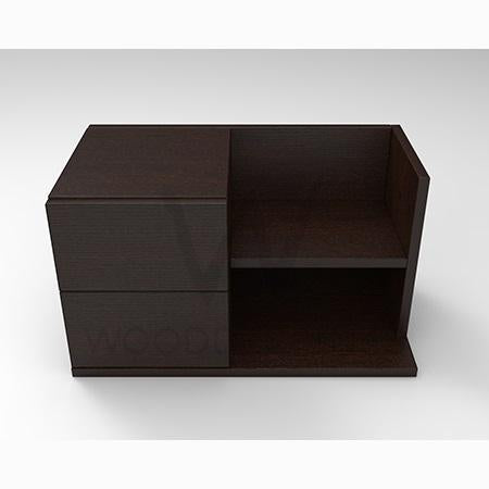 Mianne bed side table -Dark Brown