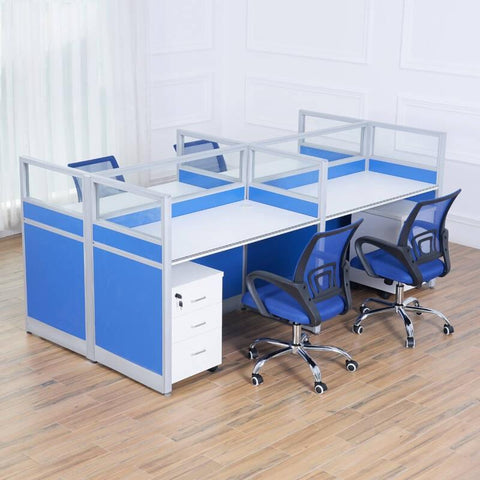 Modular Partition 4 Seater Cubicles Workstation