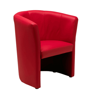 Nero Red Leather Tub Chair