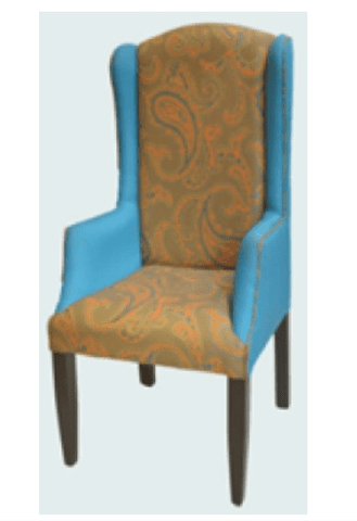 Occasional chair with solid legs-OC004