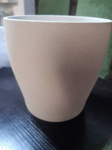 Off white stone wash vase