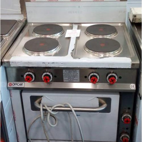Offcar CTE714 Cooker (4 Round Elect. Plates + Elect. Oven)
