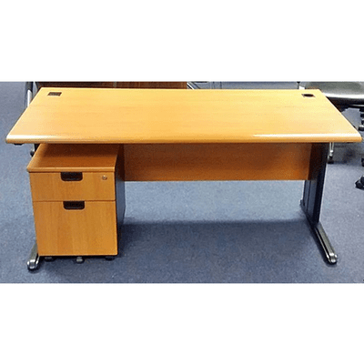 Office Desk With Mobile Pedestal - 4 Feet