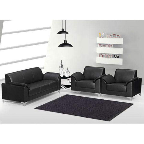 Office Furniture 5 Seater Leather Sofa (SA297)
