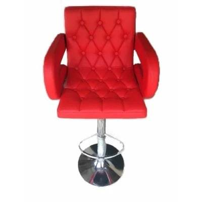 Olivia Adjustable Swivel Bar Stool-Red