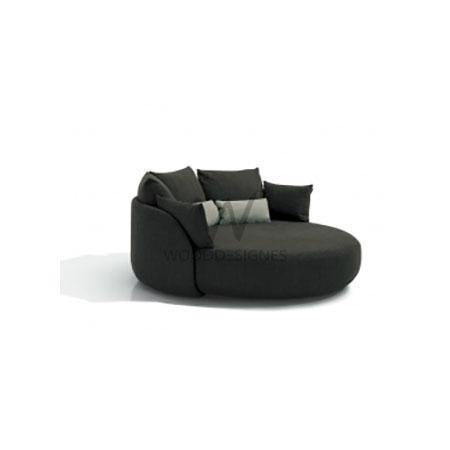 Orion Series: Dark Grey Round Sofa