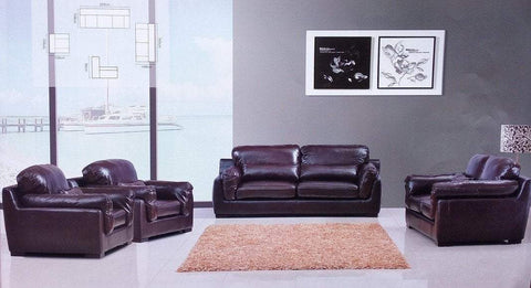 Pasini Leather Sofa Set