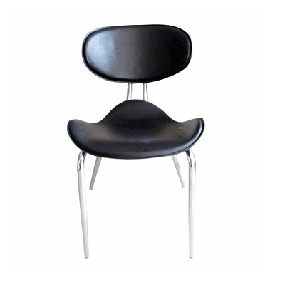 Pebble Design Dining Chair- Black