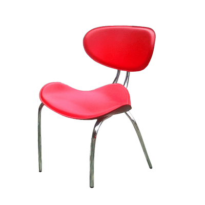 Pebble Design Dining Chair - Red