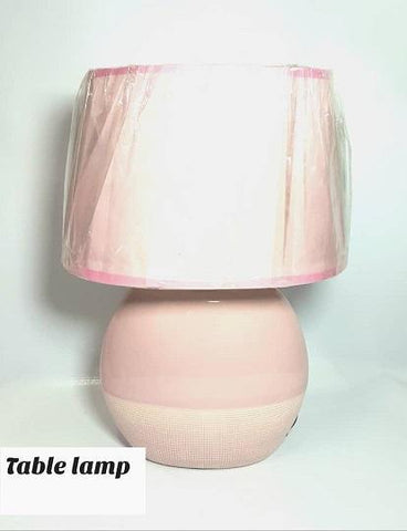 Pink Bedside Table Lamp