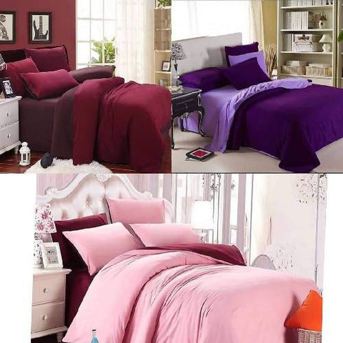 Plain duvet set
