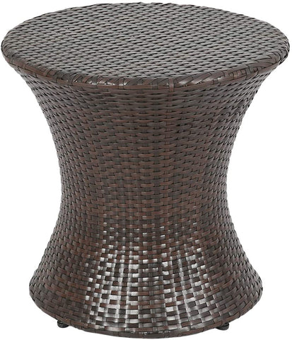Rattan Hour glass Side Table