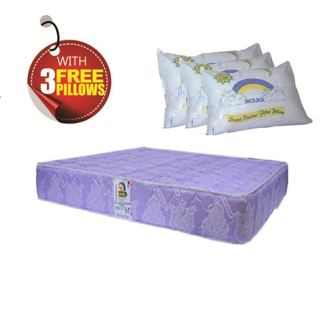 Regina-84848 Mouka Mattress- L 7ft x W 7ft x H 8""
