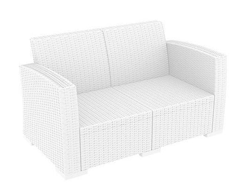 RENT A CHAIR - Double LUGANO White Lounger + Cushions