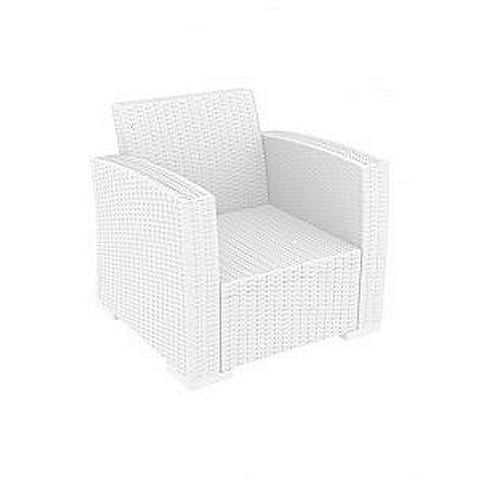 RENT A CHAIR - Single LUGANO White Lounger + Cushions