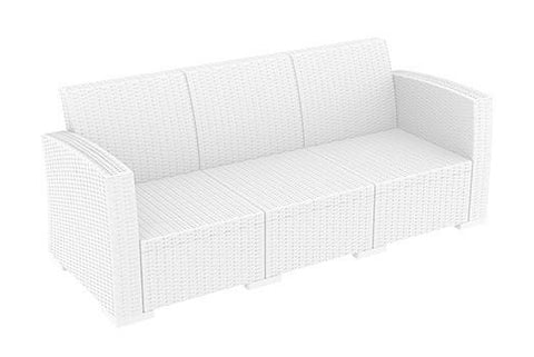 RENT A CHAIR - Triple LUGANO White Lounger + Cushions