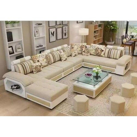 Reversible Sectional Sofa with Ottoman