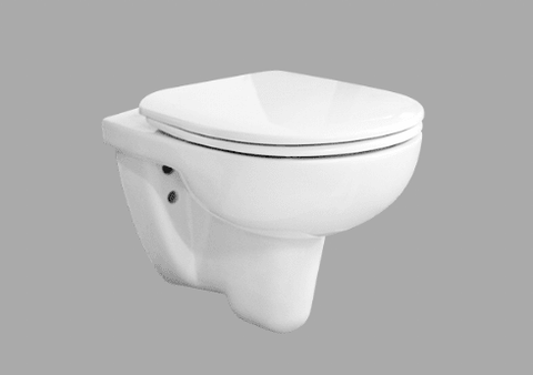 Riga Wall Hang Water Closet With Seat Cover